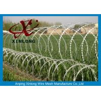 Quality Hot dipped galvanzied Concertina Razor Blade Barbed Wire Coil Diameter 500mm for sale