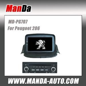Quality Manda factory gps car entertainment for Peugoet 206 car navigation system dvd player for sale