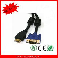 Quality HD 15 MALE VGA to HDMI cable with 2 ferrites for sale