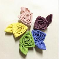Quality 2 Inch Satin Ribbon Fabric Craft Flowers Rolled Art For Valentine'S Day for sale