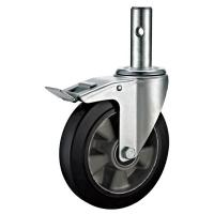 China Aluminium Swivel Scaffold Tower Wheels / Small Black 8 Scaffold Casters on sale
