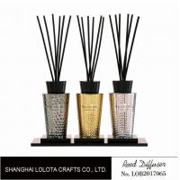 Quality Luxury Room Aromatherapy Reed Diffuser With Black Top Cover , Screen Printing for sale