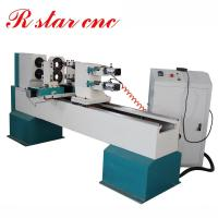 Quality Double axis CNC Wood turning lathe machine for baseball bat price for sale