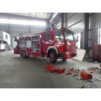 Quality Rescue Fire Brigade Truck Howo 4 X 2 Emergency Fire Fighting Truck With 5 Tons Crane for sale