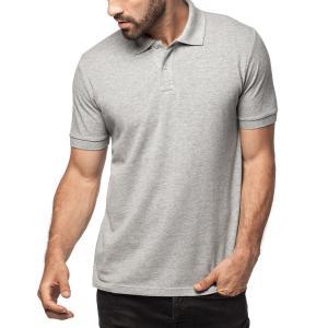 Pique Knit Rib Collar And Cuff Mens Cotton Polo Shirts , 2 Buttons Pocket Polo Shirts