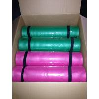 China green& pink 8mm thick nbr yoga mat pilates mat with strap on sale