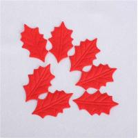 Quality Non Woven Fabric Christmas Party Crafts Red Holly Leaves Customized Size for sale