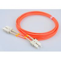 Quality RoHs Telecom Fiber Patch Cords SC FC LC ST Mutlimode Duplex Optical Patch Cables for sale