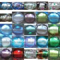 China Glass Silver Foil Beads on sale