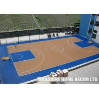 Plastic basketball court indoor sports flooring for Indoor basketball court flooring cost