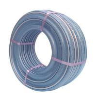 China Industrial small diameter 1 inch polyester reinforced pvc fiber flexible plastic drain water clean washer hose pipe on sale
