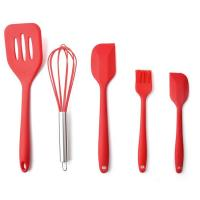 Quality High Quality Silicone Kitchen Utensil Set 5 Piece Cooking Tools Utensils Brush Kitchen Accessories for sale