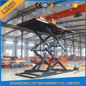 Quality 2.5T Inground Hydraulic Car Lift 5M Garage Fixed Scissor Car Lift CE TUV SGS for sale