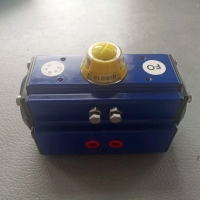 Buy cheap Pneumatic rotary pneumatic valve actuator expoxy coating body black endcaps from wholesalers