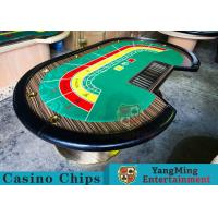 Quality 8 Person Casino Luxury Poker Table With Thick Black Camphor Wood Fire Panel for sale