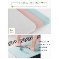 Buy diatomaceous earth bath mat  highly absorbent anti-slip diatomite mat eco-friendly durable at wholesale prices