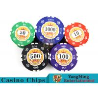 Sticker Pure Casino Poker Chip Set With UV Logo , Ceramic Poker Chip Sets for sale