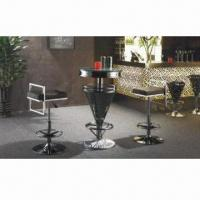 China Stainless steel bar stool, with metal frame on sale