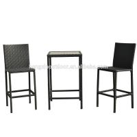 Buy cheap High Quality Wicker Garden Outdoor Furniture Rattan Dining Table Set Bistro Set from wholesalers