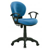 Quality Blue / Black Office Typist Chairs , Breathable Fabric Swivel Desk Chair for sale
