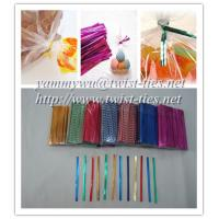 Quality PET metallic wired twist tie for baking packaging for sale