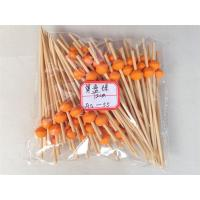 Buy cheap 9 cm bamboo cocktail sticks with colorful round beads art