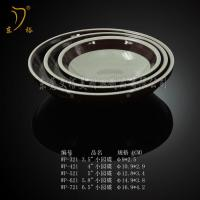 Quality Melamine Tableware colorful brown  dish tray ware, plastic dinnerware dish plates for sale