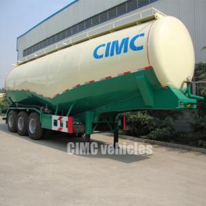 Quality Cement bulk tanker trailers 3 axles bulk cement transporters semi trailer cement bulker trailer | CIMC TRAILERS for sale