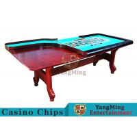 Quality Stable H - Shaped Legs Casino Poker Table With Three Anti - Static Tablecloths for sale