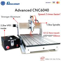 USB 3 Axis CNC Router 6040 / 1.5KW Spindle 2.2KW Invert CNC Router Engraver Machine for sale