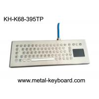 Water-proof desktop industrial 67 keys PC-keyboard layout with touchpad and 3 mouse buttons