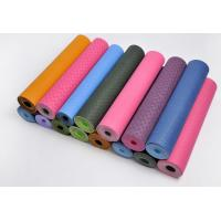 Quality eco friendly yoga mat with one solid color for sale