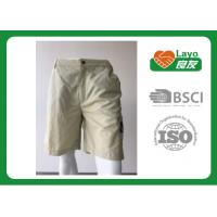 Quality 100% Polyester Waterproof Solid Color Quick Dry Pants For Camping / Running L-030 for sale