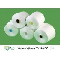 Quality 50/2 High Tenacity Knotless 100 Spun Polyester Yarn Raw White Virgin Eco Friendly for sale