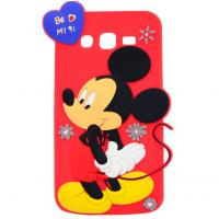 China mickey rubber silicon Case For iPhone 4 5s 6s plus SAMSUNG galaxy s5 s4 S6 S7 NOTE 3 5 on sale
