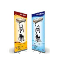 Quality Outdoor Advertising Flag PVC W80*H200cm Aluminum Stands Retractable roll up Banner With Printing Quadri for sale