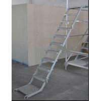 China Anti Slip Single Section Aluminium Ladders Scaffolding Ladder For Industrial on sale