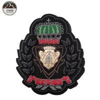 China Customized Color Custom Embroidered Logo Patches Resto With Heat Cut Border for sale