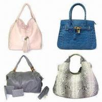 China Shoulder Handbags with Tassel and Crocodile Stamp, Made of Python/Ostrich Leather on sale