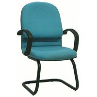 Quality Metal Tube Colorful Fabric Office Chairs No Wheels With PP Cover Stylish for sale