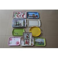 Quality Melamine salver / saucer / pallet /handle tray Melamine plastic dish plate and LOGO for sale