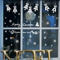 Buy Bell Snowflake Christmas Wall Stickers Removable PMS/CMYK Colour Eco - Friendly at wholesale prices