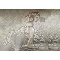 China Fairy Bronze Relief Sculpture Ancient Style Metal Wall Art Corrosion Stability on sale