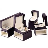 Quality Custom Luxury Leather Jewelry Box Velvet Inside Durable For Presentation Gift for sale