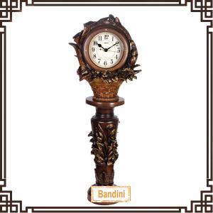 China Floor Clock polyresin Quartz Clock Living Room Home Decoration Floor Clock 1335-11+8838-11 on sale