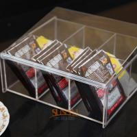 Quality 4mm Food Display Case Clear Acrylic Storage TraysWith 6 Lattices for sale