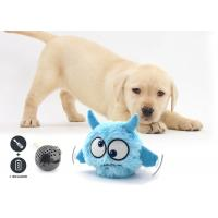 Auto Bounce / Squeaky Plastic Dog Balls Toys Easy Play With Plush Cover