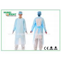 Buy cheap Plastic Disposable Protective Gowns / Blue CPE Surgical Gown for Patient , CE from wholesalers
