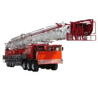 Quality professional oil field 2250KN Truck Mounted Rig , Hydraulic system 14-21Mpa for sale