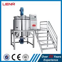 Quality 200L 300L 500L1000L Liquid Soap Detergent Double Jacketed Heating Mixing Tank With Agitator for sale